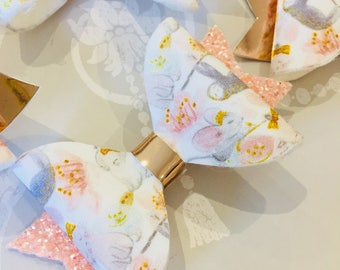 Hand Made Spring Woodland HairBows