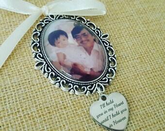 Wedding Bouquet Photo Memory Charm - Brides Charm- Keepsake Momento - with heart