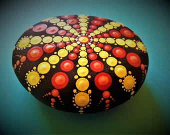 mantala stone dot painting~star  distant
