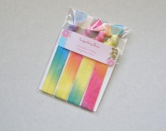 Elastic Hair Tie Set of Four - Tie Dye Mix (5084)