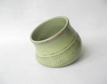Pottery Salt Pig, Stoneware Salt Pig, Salt Cellar, Ceramic Salt Pig