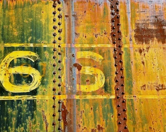 Urban Art, Rusty Train Decor, 66, Manly Art, Home Decor, Industrial Wall Art