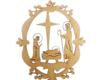 Nativity Scene Ornament - Nativity Ornaments - Christmas Nativity - Nativity Holiday Decor - Christian Decor - Religious Ornaments