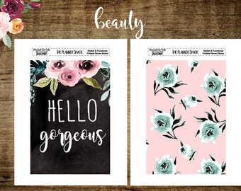 A5 Planner Dashboards | Hello Gorgeous | Floral | Printable | Printable Dashboards | Travelers Notebook | A5 | Dashboards