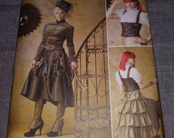 Simplicity 1599 steampunk gown dress sewing pattern