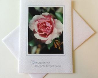 Petal Play Photo Note Card Blank Inside Sympathy
