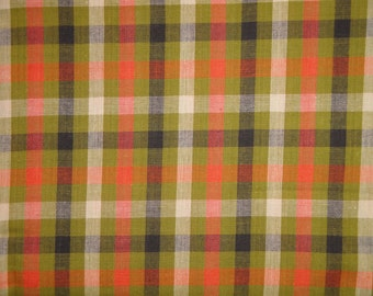 Homespun Fabric | Large Check Fabric | Primitive Cotton Fabric | Quilt Fabric | Home Decor Fabric | Apparel Fabric | Craft Fabric