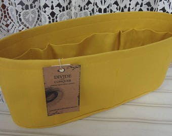 Yellow / Purse ORGANIZER Insert SHAPER / Flexible or Stiff Bottom / STURDY / 5 Sizes Available / Check out my shop for more colors & styles