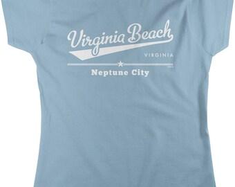 Virginia Beach, Virginia, Neptune City Women's T-shirt, NOFO_00902