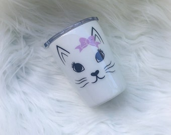 Kids Tumbler Cup, Kids Glitter Tumbler, Kids Cat Tumbler, Kids Animal Tumbler Cup, Cat Cup, Cat Tumbler, Cat Lover Tumbler