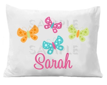 Butterfly Pillow Case Butterfly Personalized Pillowcase