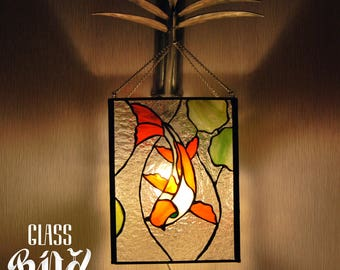 The wall lamp with Koi fish