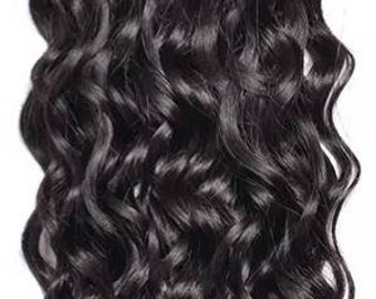 Brazilian Water Wave Bundles 1PC Human Hair Extensions Natural Color Hair 10-28 inch
