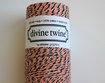 Baker's Twine - Halloween Divine Twine - 20 yards of Orange, Black and White