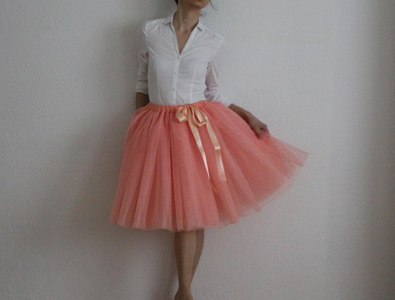 Tulle petticoat melon Skirt 55 cm