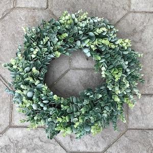 Eucalyptus Wreath, Year Round Wreath, Greenery Wreath, Grapevine Wreath, Summer, Fall, Winter, Spring, Front Door Wreath, Farmhouse Wreath