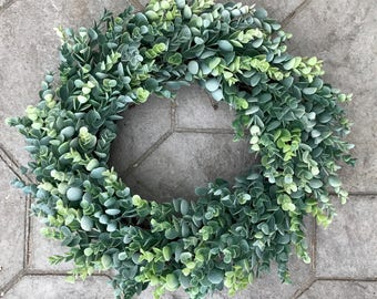 Eucalyptus Wreath, Year Round Wreath, Greenery Wreath, Grapevine Wreath, Summer, Fall, Winter, Spring, Front Door Wreath, Farmhouse Wreath