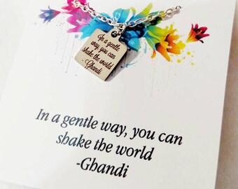 Graduation jewelry Graduation Gift Inspirational Jewelry Quote