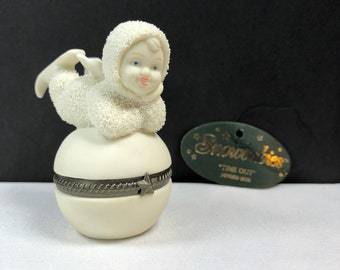 """Department 56 Snowbabies """"Time Out"""" Hinged Trinket Box, w/tag, no box"""