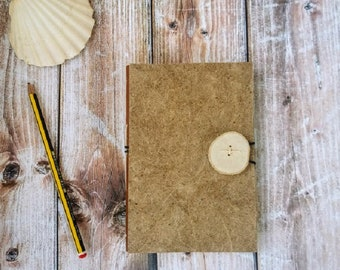 Pocket notebook, notebook with hardcover, notebook with elastic, diary with white pages, eco-friendly notebook, diary with button