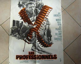 Affiche cinéma Les Professionnels Lancaster Claudia Cardinale Lee Marvin Palance. Collection.