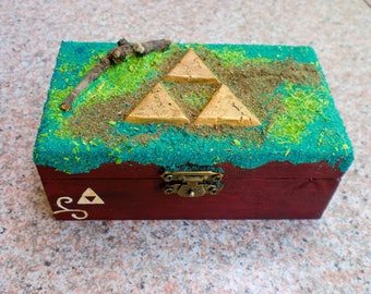 Triforce box, trifuerza, Zelda, the legend of Zelda, caja.