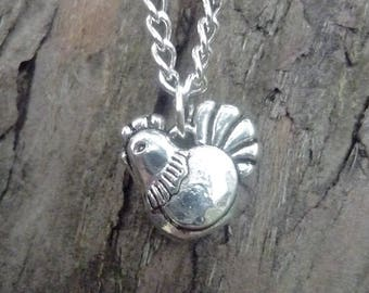 Cute chicken necklace, chicken jewellery, hen party jewellery, hen party gift, chicken keeper gift, gift for poultry keeper