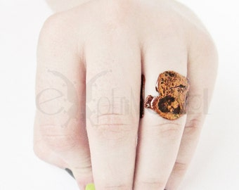 Space Oddity - copper ring