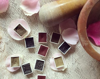 Hand Crafted Watercolor Paints Hand Collected Natural Pigment Nature Half Pans