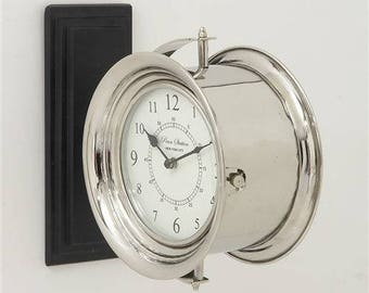 Maritime Stainless Double Sided Wall Clock
