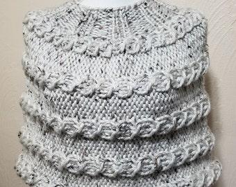 Chunky Knit Capelet Poncho Bulky Shrug Cape