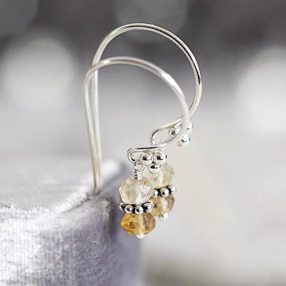 Citrine Earrings - November Birthstone Earrings