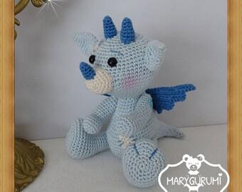 Dinosaur, crochet, Amigurumi plush