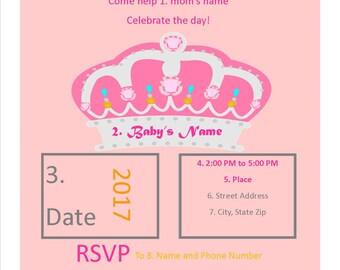 Princess Baby Shower Invite