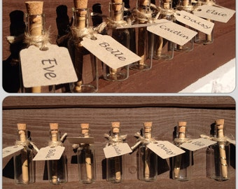 Save the Date/Party/Invite/Wedding Favour | Mini Scroll Message In A Bottle