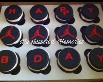 Jumpman fondant cupcake toppers