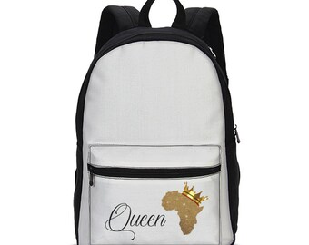 Queen Africa-Small Canvas Backpack
