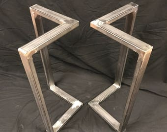 Genial Metal Table Legs,L Shape, Sofa Table, End Table (set Of 2