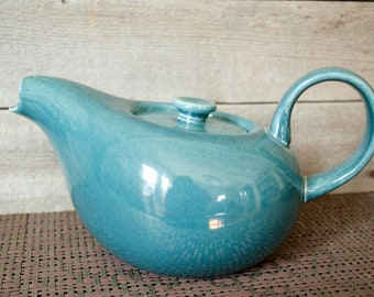 RUSSEL WRIGHT Teapot, Seafoam Green, American Modern by Steubenville, Mid Century, Vintage Dinnerware, Spruce, Blue, Cofffe Pot, MCM