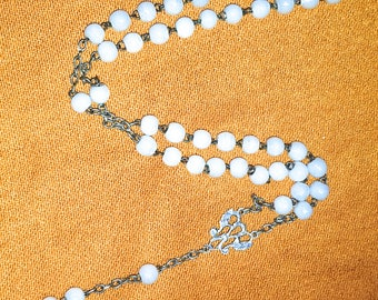 XIX th OPALINE - Antique rosary chaplet