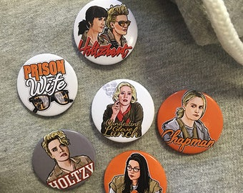 Ghostbusters Holtzmann & Gilbert, Kate McKinnon SNL Button Pin Badge