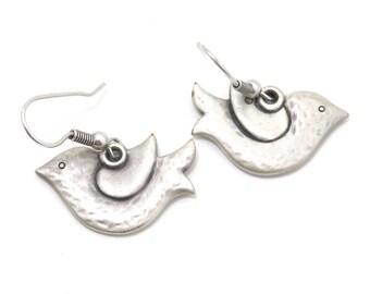 Dove Earrings, Bird Earrings, Dove Jewelry, Silver Dove Earrings, Silver Dove Jewelry, Silver Bird Earrings, Silver Dove Earrings, peace