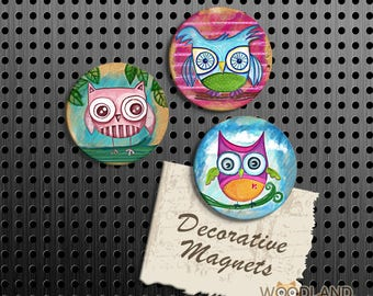 More Colors. Owl Magnets ...
