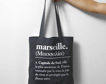 Tote Bag Tote MARSEILLE / MASSILIA gray