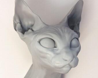 Sphynx Cat Wall Sculpture / Trendy modern home wall decor / Housewarming gift