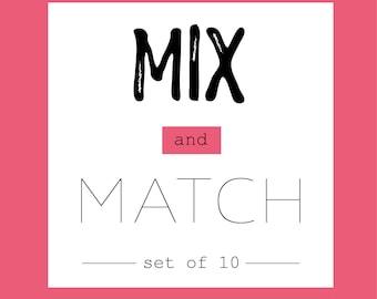 mix and match set of 10 // 4 x 6 postcard prints