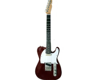 Miniature Guitar Replica: Telecaster Display Guitar Brown Finish