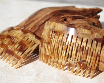 Hair Combs, French, Gold, Vintage 70's, Dead Stock