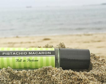 Mother's Day Gift // PISTACHIO MACARON roll on perfume // Birthday Gift // smells just like a delicious french macaron