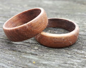Teak Ring Modern Mens Jewelry